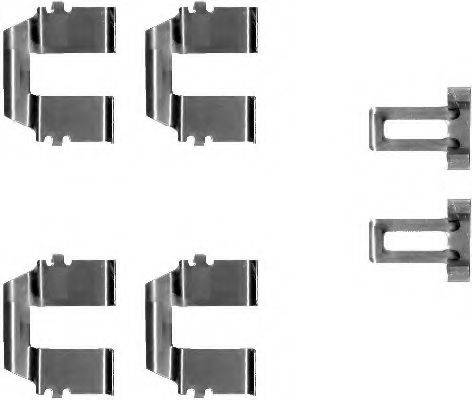 HELLA 8DZ355202721 Комплектующие, колодки дискового тормоза