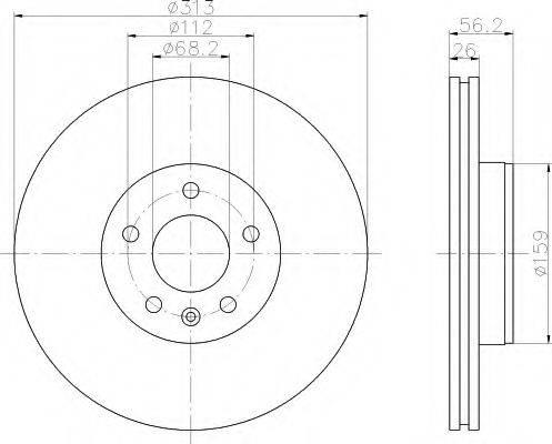 HELLA 8DD355108101 Тормозной диск