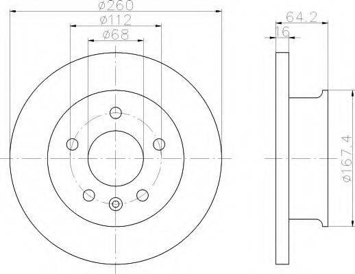 HELLA 8DD355102621 Тормозной диск