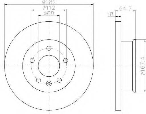HELLA 8DD355102891 Тормозной диск