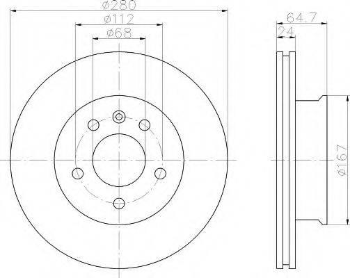 HELLA 8DD355102631 Тормозной диск