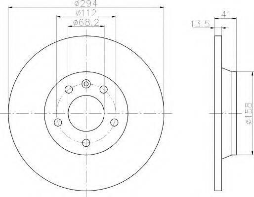 HELLA 8DD355106661 Тормозной диск