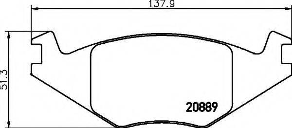 HELLA 8DB355017491 Тормозные колодки
