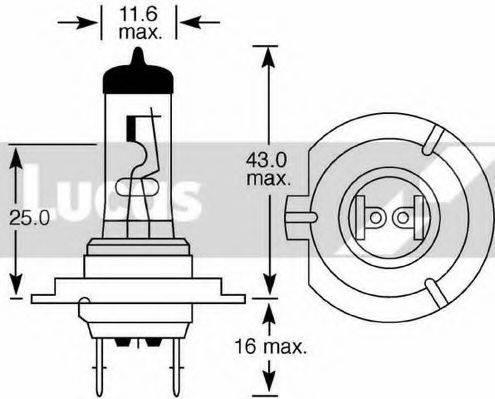LUCAS ELECTRICAL LLB477 Лампа накаливания