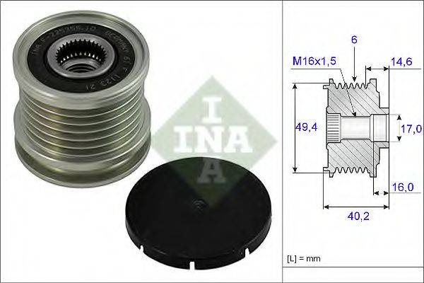 INA 535000110 Муфта генератора