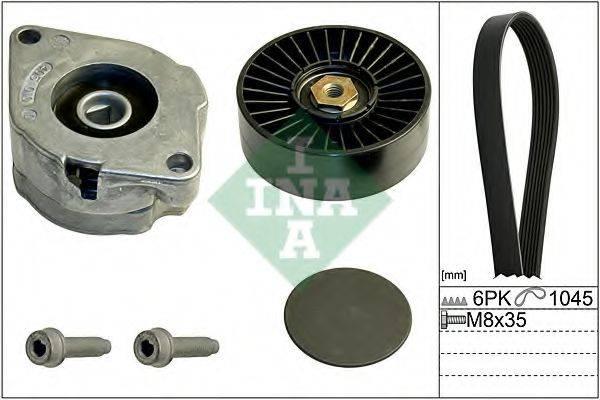 INA 529010210 Поликлиновой ременный комплект