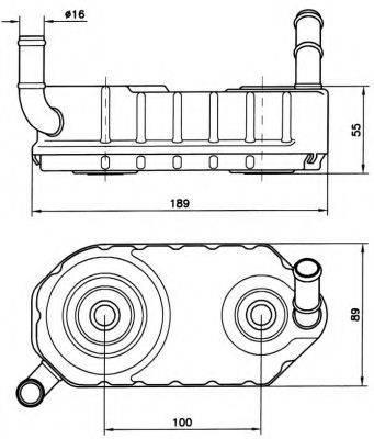 NRF 31004 Масляный радиатор