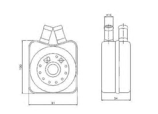 NRF 31304 Масляный радиатор