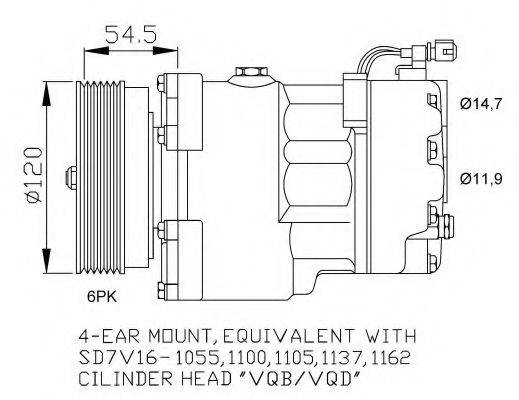 NRF 32033G Компрессор кондиционера