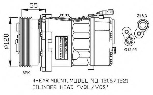NRF 32064G Компрессор кондиционера