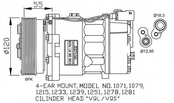 NRF 32206G Компрессор кондиционера