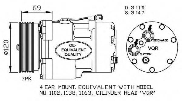 NRF 32228 Компрессор кондиционера