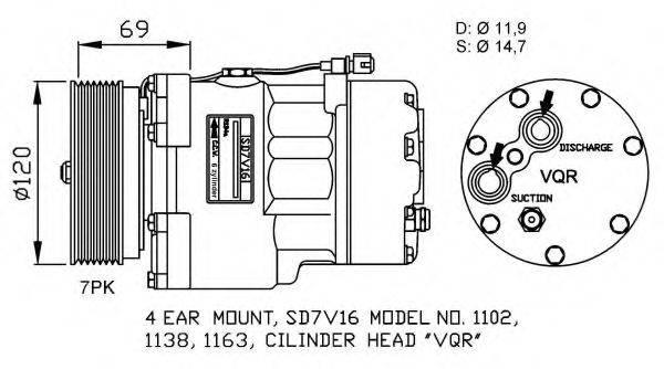 NRF 32228G Компрессор кондиционера