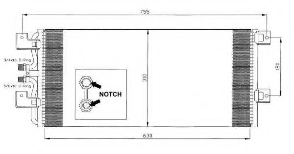 NRF 35140 Конденсатор кондиционера
