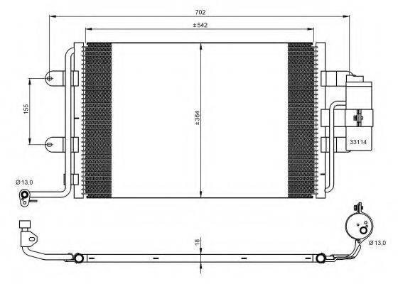 NRF 35227 Конденсатор кондиционера