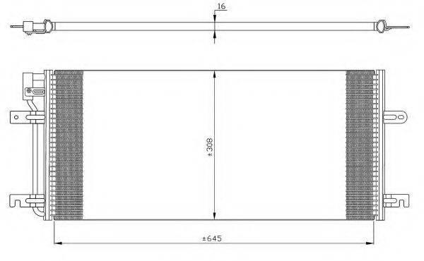 NRF 35316 Конденсатор кондиционера
