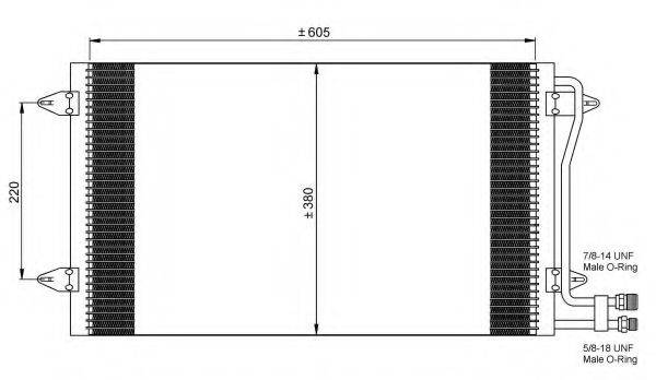 NRF 35656 Конденсатор кондиционера