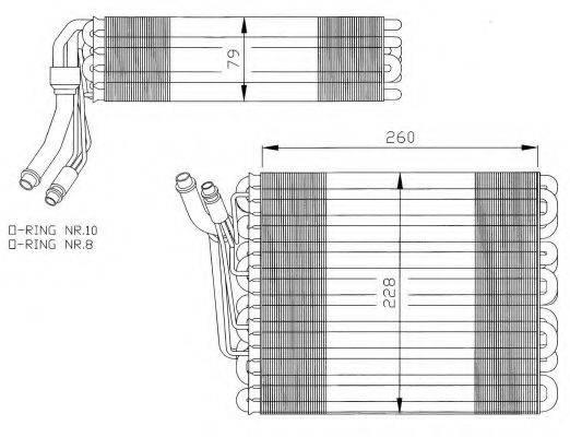 NRF 36023 Испаритель кондиционера