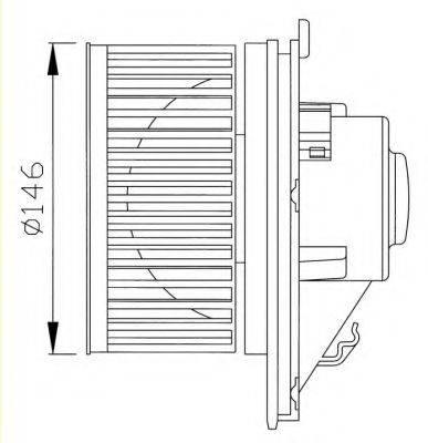 NRF 38341 Вентилятор системы охлаждения двигателя