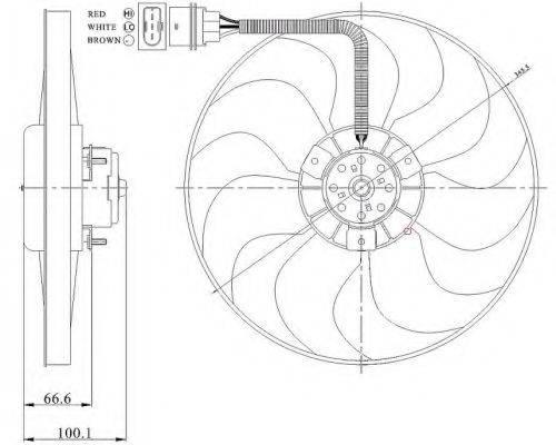 NRF 47204 Вентилятор системы охлаждения двигателя