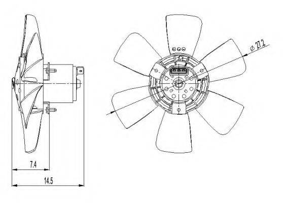 NRF 47390 Вентилятор системы охлаждения двигателя