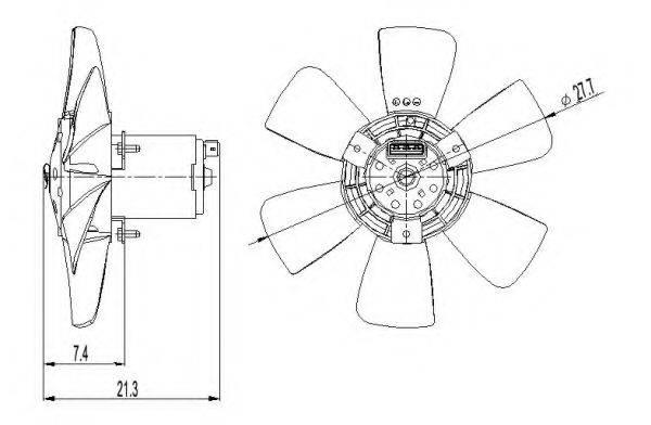 NRF 47391 Вентилятор системы охлаждения двигателя