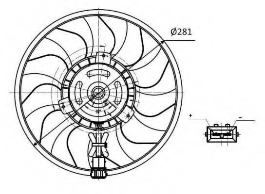 NRF 47418 Вентилятор системы охлаждения двигателя