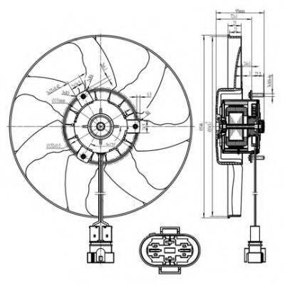 NRF 47428 Вентилятор системы охлаждения двигателя