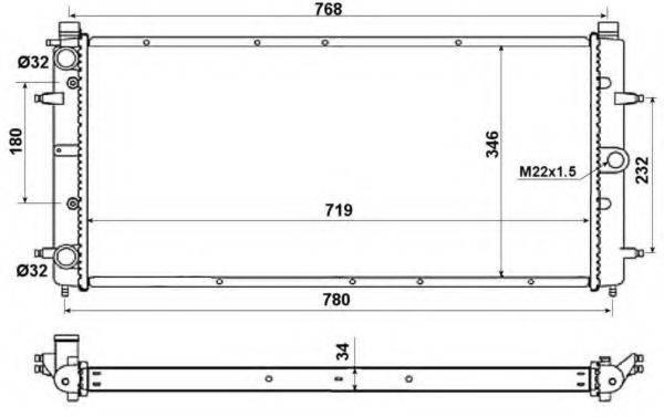 NRF 509514 Радиатор охлаждения двигателя