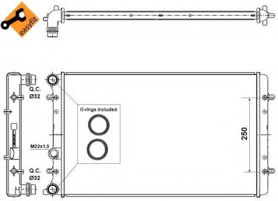 NRF 509529 Радиатор охлаждения двигателя