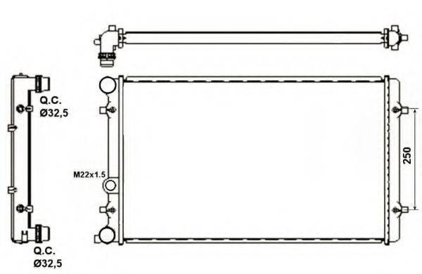 NRF 509529A Радиатор охлаждения двигателя