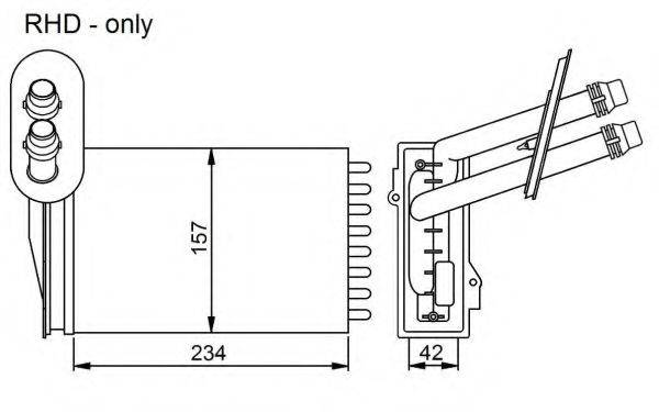 NRF 53402 Радиатор печки