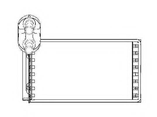 NRF 53550 Радиатор печки