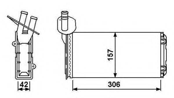 NRF 53889 Радиатор печки