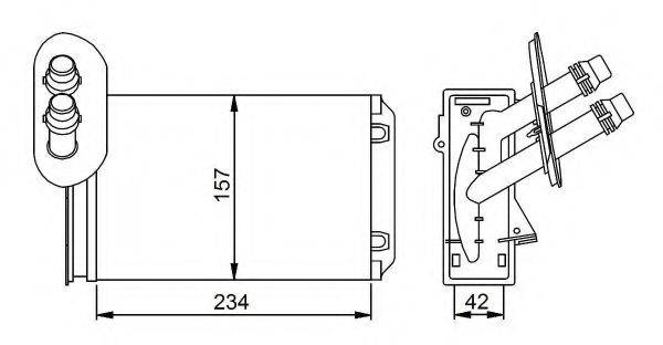 NRF 58223 Радиатор печки