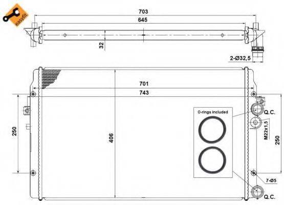 NRF 58334 Радиатор охлаждения двигателя