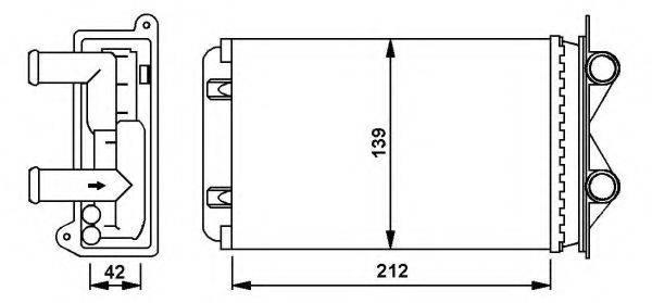 NRF 58935 Радиатор печки