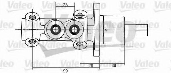 VALEO 350824 Главный тормозной цилиндр