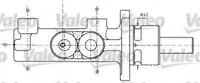 VALEO 402295 Главный тормозной цилиндр