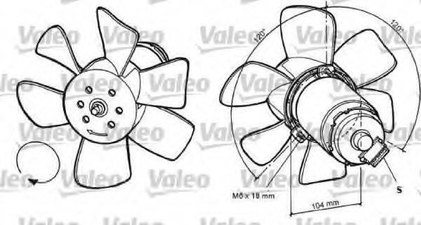 VALEO 696031 Вентилятор системы охлаждения двигателя