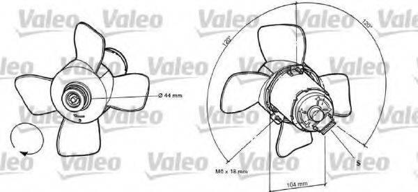 VALEO 696038 Вентилятор системы охлаждения двигателя