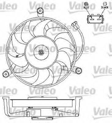 VALEO 696043 Вентилятор системы охлаждения двигателя