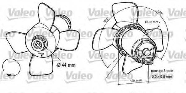 VALEO 696047 Вентилятор системы охлаждения двигателя