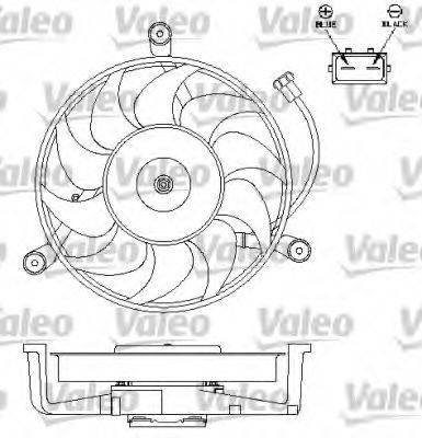 VALEO 696179 Вентилятор системы охлаждения двигателя
