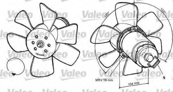 VALEO 698368 Вентилятор системы охлаждения двигателя