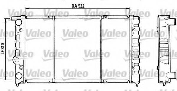 VALEO 730513 Радиатор охлаждения двигателя