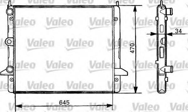VALEO 731387 Радиатор охлаждения двигателя