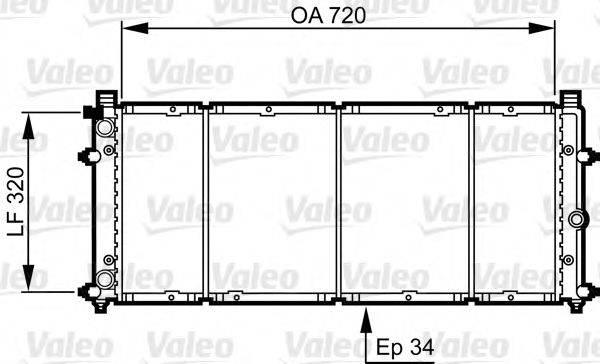 VALEO 731411 Радиатор охлаждения двигателя