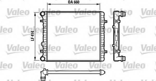 VALEO 732175 Радиатор охлаждения двигателя