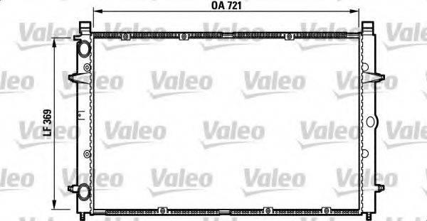 VALEO 732397 Радиатор охлаждения двигателя